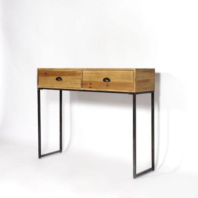 les 10 meilleures id es de la cat gorie console industriel sur pinterest chambre industrielle. Black Bedroom Furniture Sets. Home Design Ideas
