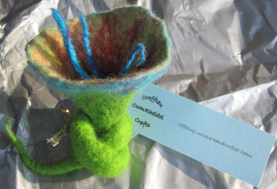 Freestanding felt flower by CloudLines on Etsy, £7.99