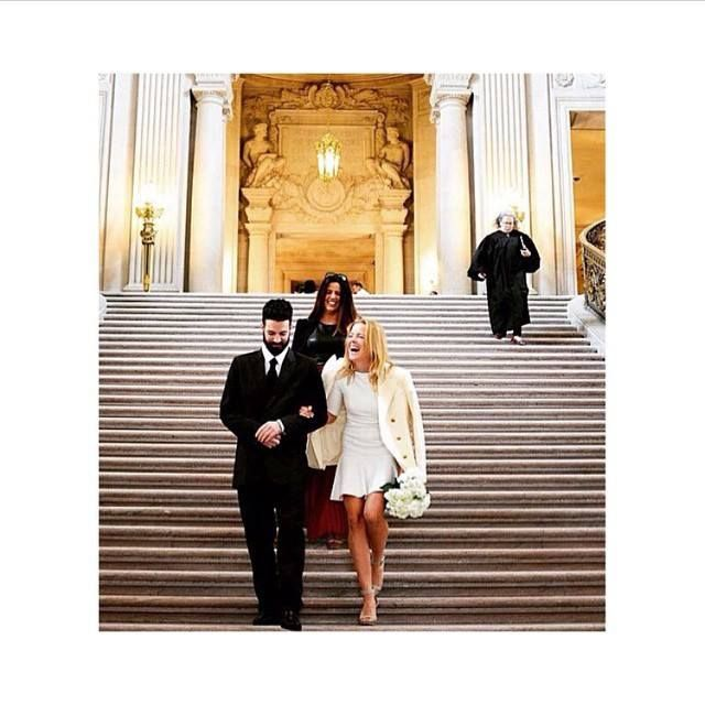 The bride, Ornela looking absolutely amazing in our white Jo dress: http://www.sdress.com/product/jo-dress/
