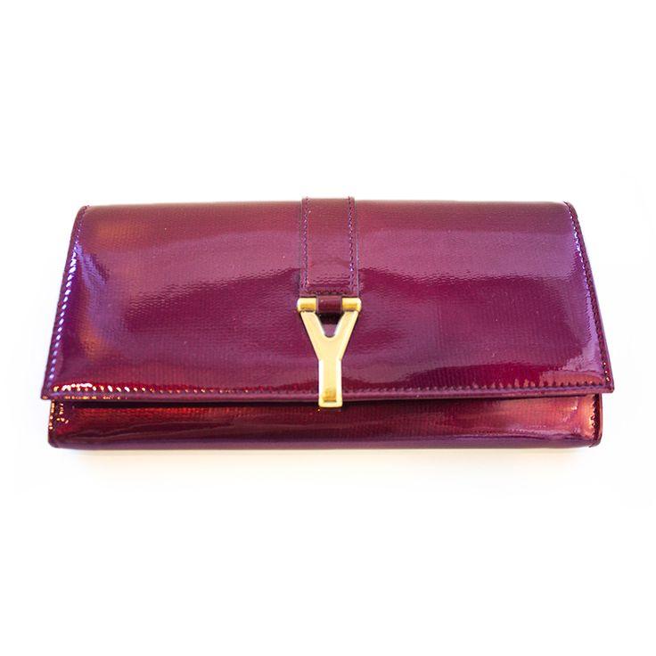 YSL Purple Long Wallet