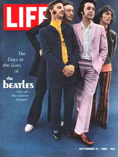 Life Magazine Copyright 1968 Days In The Lives Of Beatles - Mad Men Art: The 1891-1970 Vintage Advertisement Art Collection