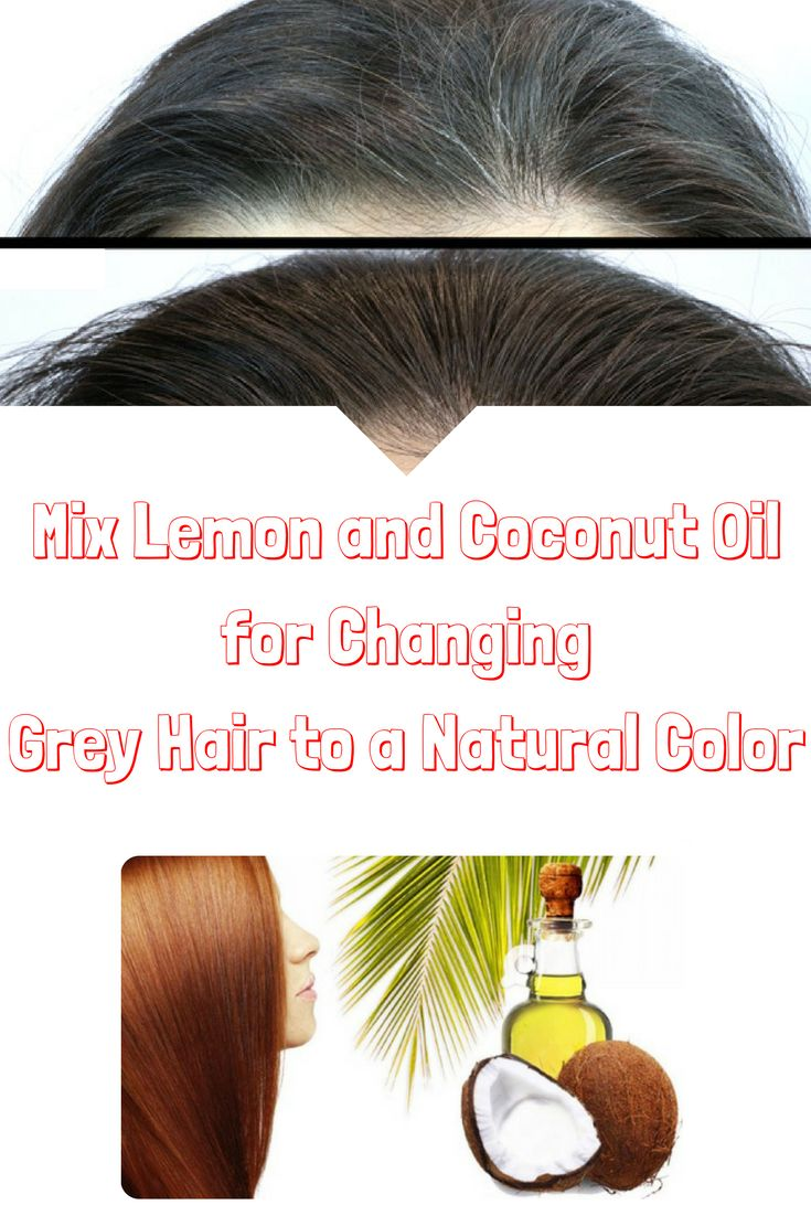 Mix Lemon and Coconut Oil for Changing Grey Hair to a Natural Color