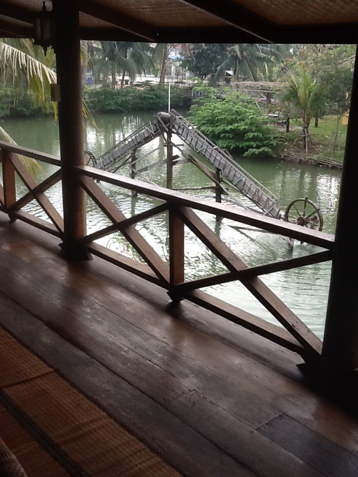 A Thai water mill at Baanthaihouse
