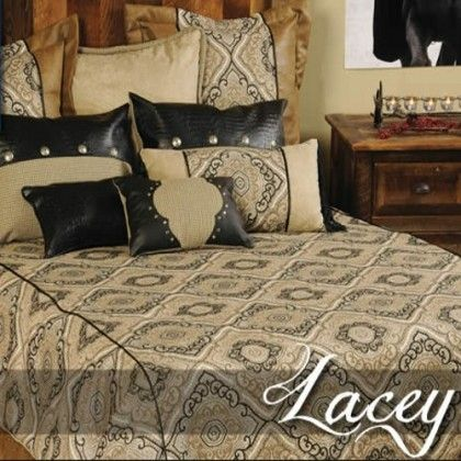 Wooded River Lacey Duvet Cover Set