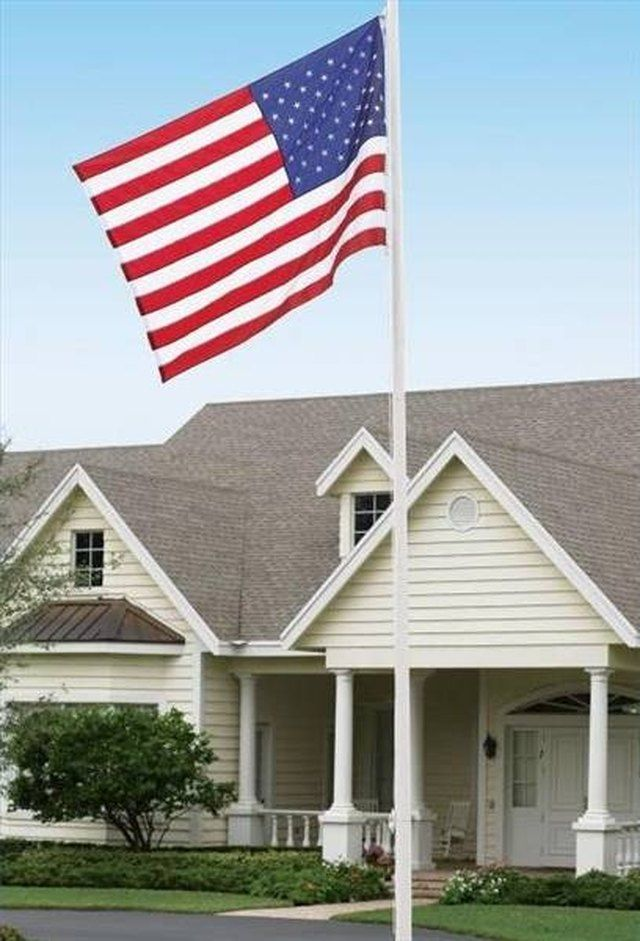 How To Install A 20 Foot Inground Flag Pole Hunker Flag Pole Landscaping Flag Pole Backyard