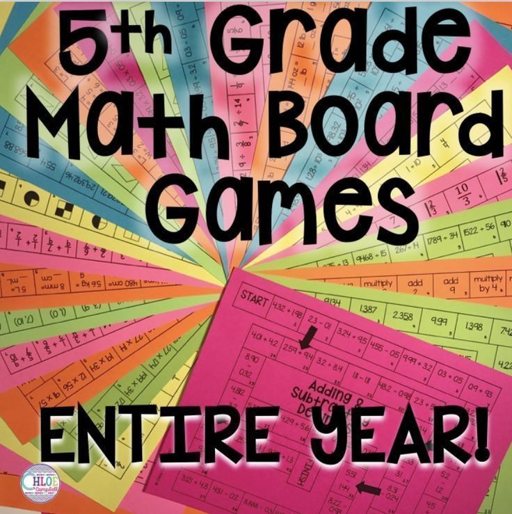 These board games are perfect for 5th grade math centers. Use the activities in your upper elementary classroom to engage your 5th grade students!