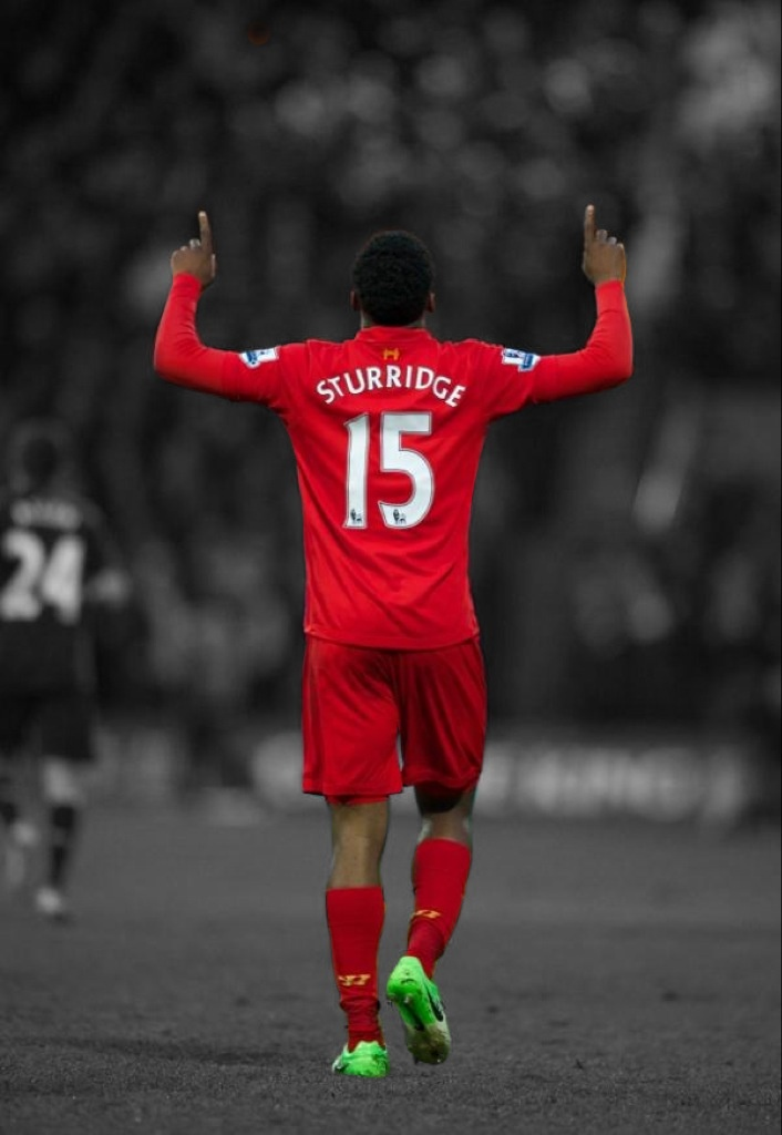 Daniel Sturridge celebrates his first goal for Liverpool (vs Mansfield Town, FA Cup)