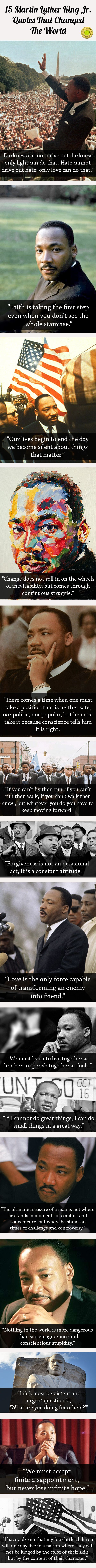 15 Martin Luther King Jr. Quotes That Changed The World…