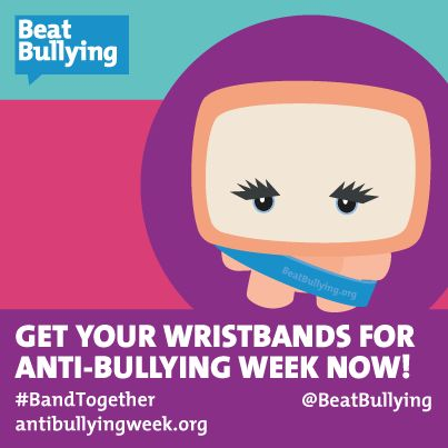Get your wristbands for Anti-Bullying Week now.