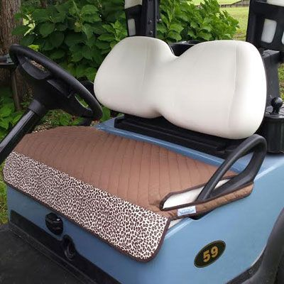 Golf Chic Bags Quilted cart seat cover. Keep your cart seat clean, dry, comfortable and stylin! Durable and washable. Hand-crafted in North Carolina. #golf #accessories #lorisgolfshoppe