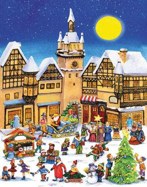 Christmas Village Advent Calendar | Large Fun & Whimsical | Vermont Christmas Co. VT Holiday Gift Shop