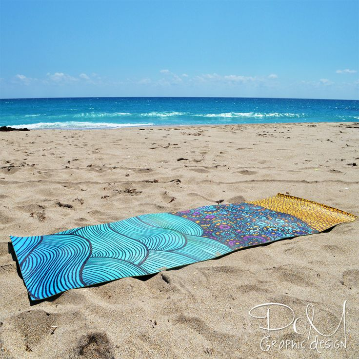 """'Oceania' yoga mat by Pom Graphic Design Our premium yoga mats feature edge-to-edge printing, a textured, non-slip backing, and 1/4"""" thick cushioning so you can strike any pose in style. 72"""" x 24"""" x 1/4""""#yogamat #yoga #yogawear #ocean #sea #waves #pomgraphicdesign #nautical #fitness #yogaapparel"""