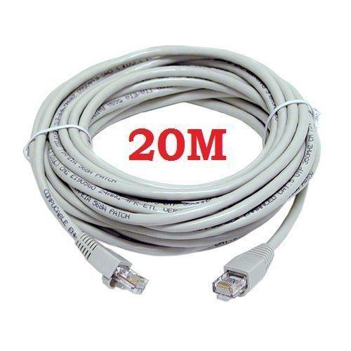 Cable CAT5e RJ45 plomo de patch Sky Hd Ethernet Internet PS3 Consola red Lan 20m #UniversalGadgets