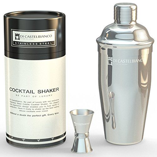 Cocktail-Shaker-by-Bar-Brand-co-Professional-Bar-set-24-oz-Drink-Mixer-Built-in-Strainer-and-Free-Jigger-Premium-Drink-Shaker-Gift-0