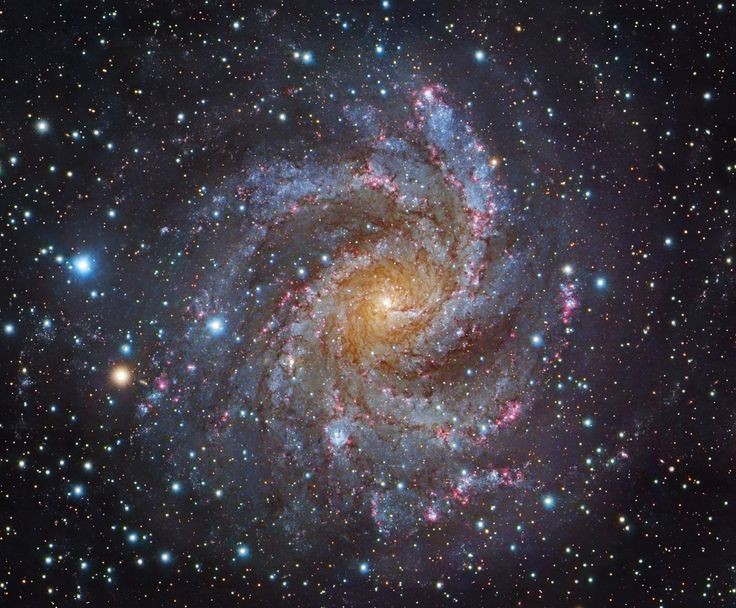 From our vantage point in the Milky Way Galaxy, we see NGC 6946 face-on. The big, beautiful spiral galaxy is located just 10 million light-years away, behind a veil of foreground dust and stars in the high and far-off constellation of Cepheus.