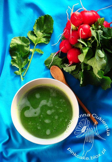 zupa z liści rzodkiewki, liście rzodkiewki na zupę, radish leaves soup, zupa z rzodkiewek