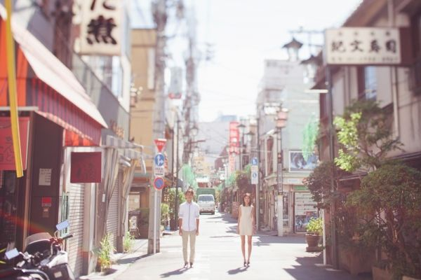Couple Engagement Shot on Tokyo Street