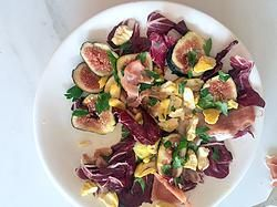 Fig, raddicchio & chestnut salad
