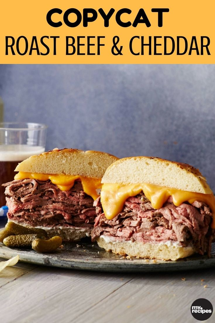 We are not thinkin' Arbys-- not after a roast beef sandich like this one. A classic creamy cheese sauce makes this sandwich super rich, while a horseradish sauce adds a kick. We love the onion bun, preferaby bakery-made, but you could also use a pretzel bun instead. Make this sandwich the centerpiece of your Super Bowl Spread or serve along with beer and fries for a crowd-pleasing meal. | MyRecipes