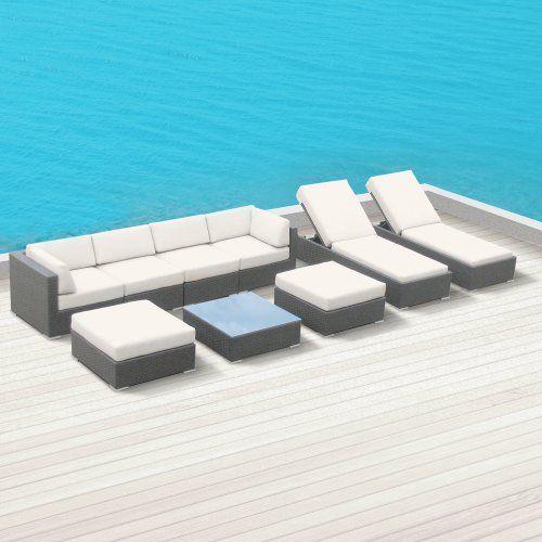 Luxxella Outdoor Patio Wicker BELLA 9 Pc Off White Sofa Sectional Furniture All Weather Couch Set Luxxella, http://www.amazon.com/dp/B00EKVCFVC/ref=cm_sw_r_pi_dp_Dv.otb01193XXT64