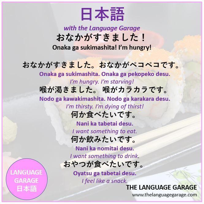 ÁŠãªã‹ãŒã™ãã¾ã—た Onaka Ga Sukimashita I M Hungry In 2020 Learn Japanese Learning Languages Japanese