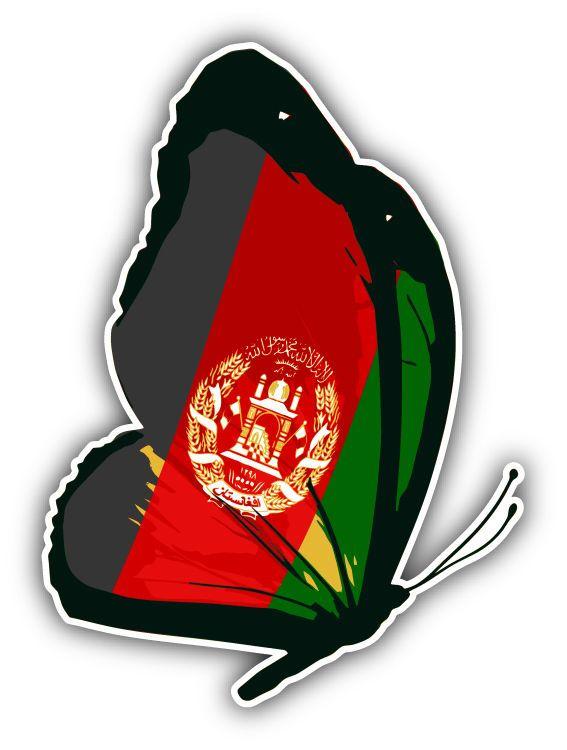2 99 Afghanistan Flag Butterfly Car Bumper Sticker Decal 4 X