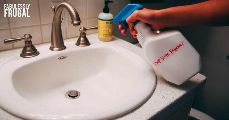The BEST Soap Scum Remover {DIY Picture Tutorial}