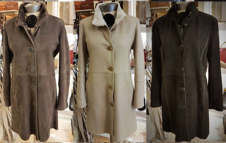 The last size shearlings, grey 44,48/beige 42/black 44. Price €850,00 instead of €1.790,00.