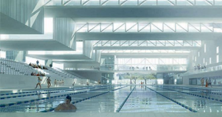 Piscine Tourcoing in France. Now, that's what I call a swimming pool..SIGH..