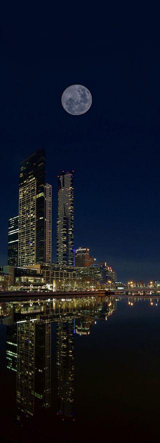 Full moon, Melbourne, Australia