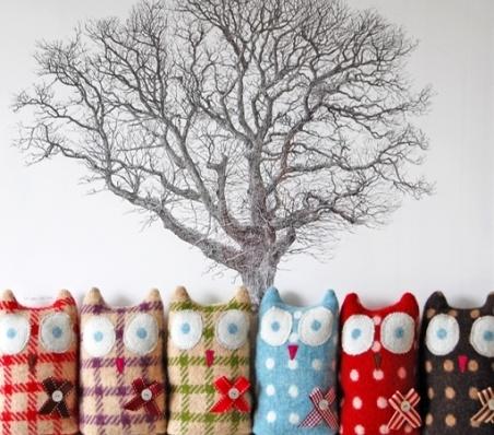 Little Owls | Woollen Blanket and Felt