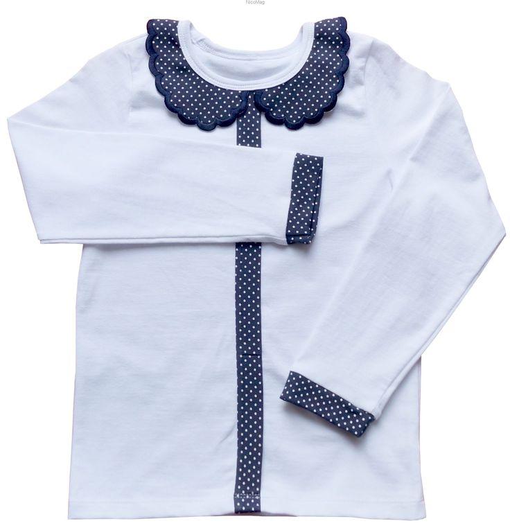 Biała bluzka z kołnierzykiem g