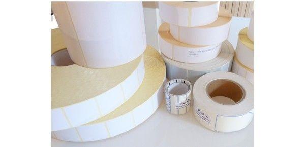 Etichette bianche neutre 40x30 adesivo permanente bobina anima da 76 mm 4000 pz
