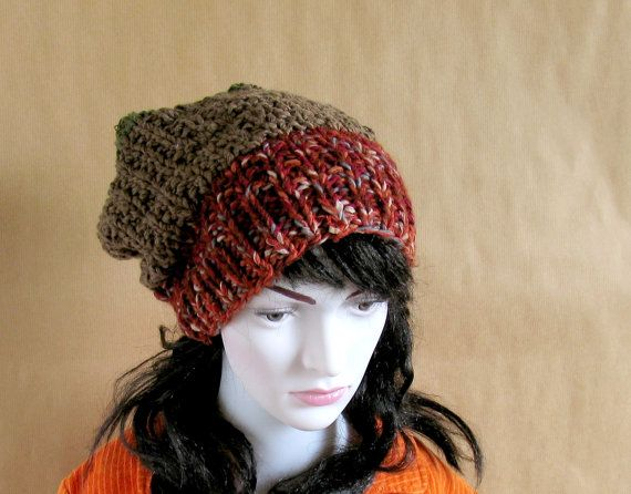 Hand Knit Hat - Slouchy Hat - Slouchy Women Hat - Slouchy Beanie - Oversized Hat - Chunky Knit - Winter Hat