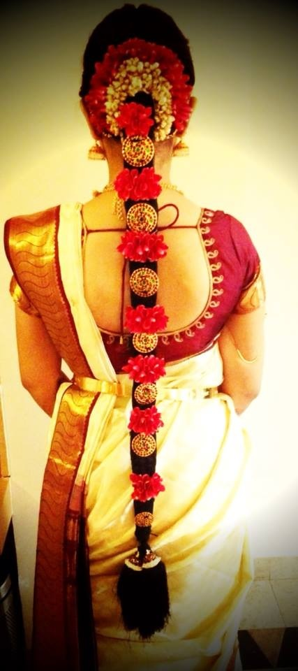 #indian #bridal #hairstyle #SouthIndian