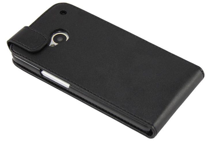 Zwarte Modieuze Flip Case voor de HTC One
