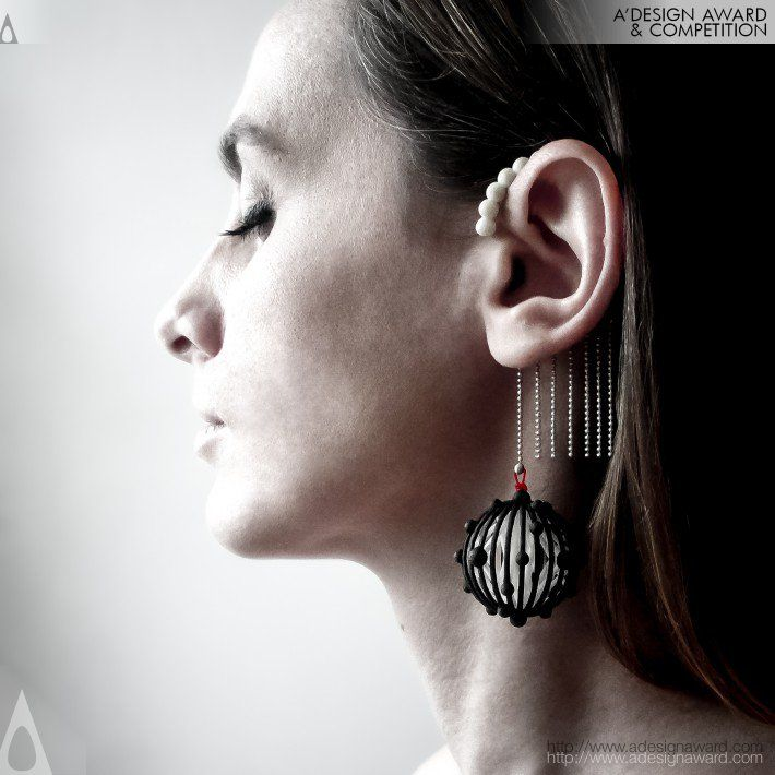 """Future 02"" Jewellery Collection by Superlora, Ariadne Kapelioti has been acknowledged with the prestigious Silver A' Design Award at Jewellery, Eyewear and Watch Design Competition Category. #3Dprintedjewellery"