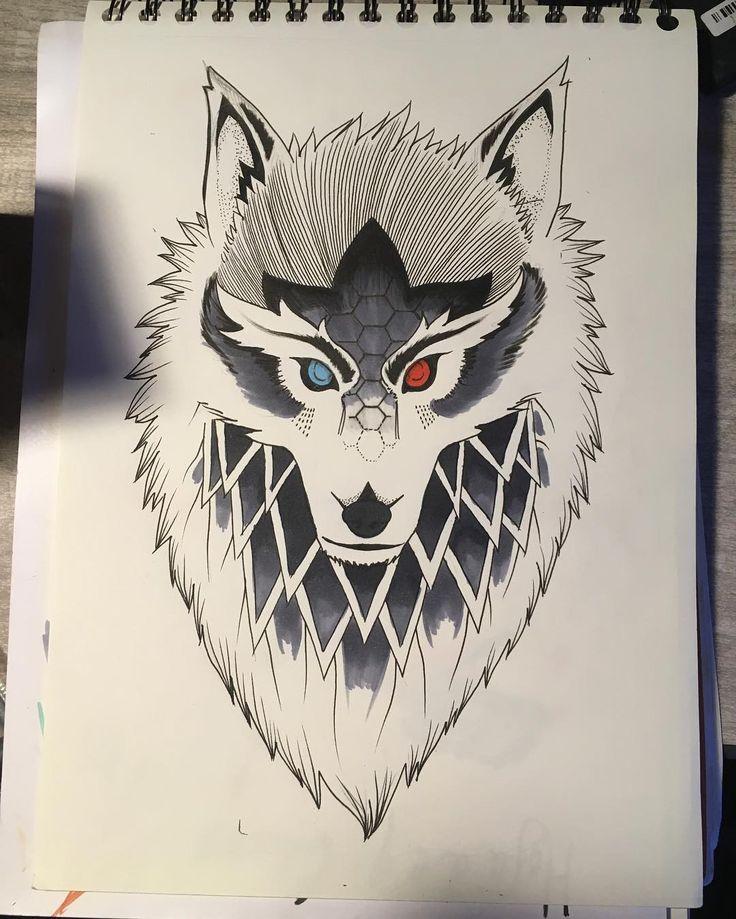 #inktober #wolf #wolftattoo #tattoo #lobo #sketch #ilustracionchilena #copicmultiliner #copicchile #instadraw #dibujo #drawing #freelance #dibujochileno Aun no me convence inktober 😖