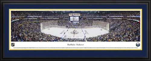 buffalo sabres panoramic picture deluxe matted frame