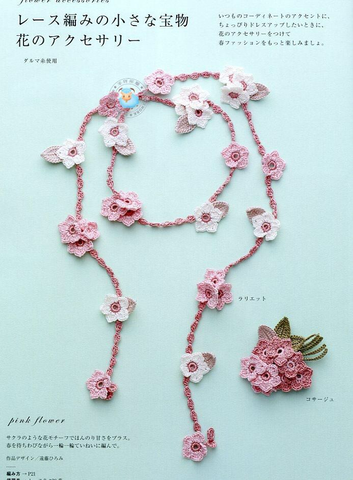 I want to learn how to do this so I can have little crochet flower garlands everywhere. Because why not?