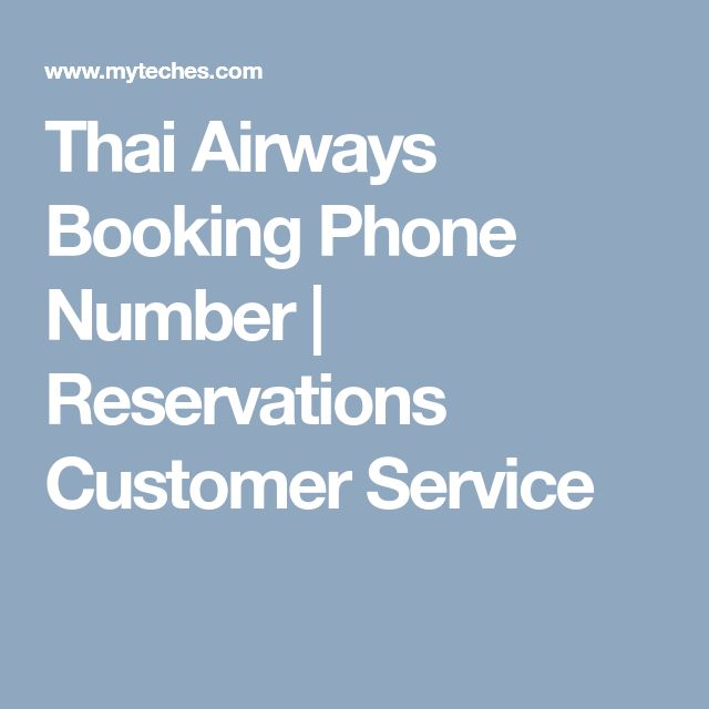 Thai Airways Booking Phone Number | Reservations Customer Service