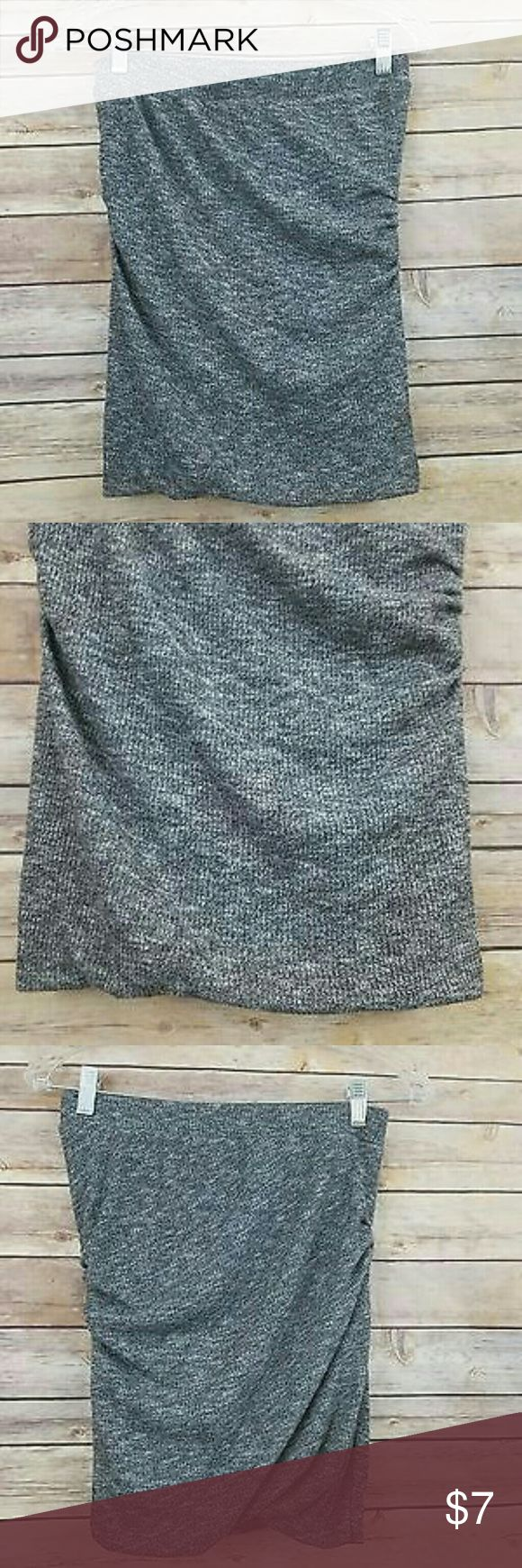 Zara Skirt M Gray draped stretch pencil fitted skirt. Comfy and trendy. Zara Skirts Pencil