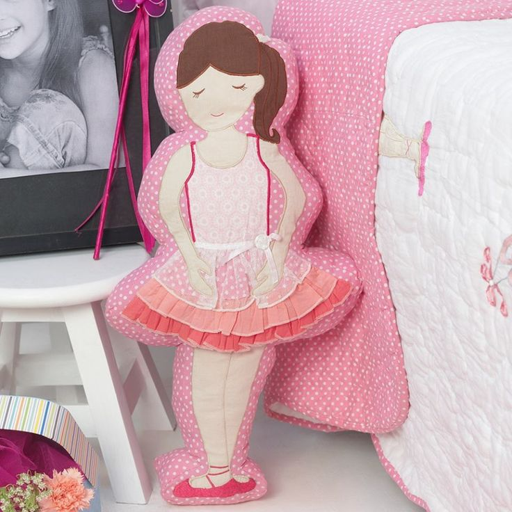 An adorable little bedtime friend, this ballerina #pillow will sway your little one into snug sleep.More designs available. Use Coupon WELCOME20 and get Flat 20% off on your first order. #information #buy #free #online #shopping #shipping #discount