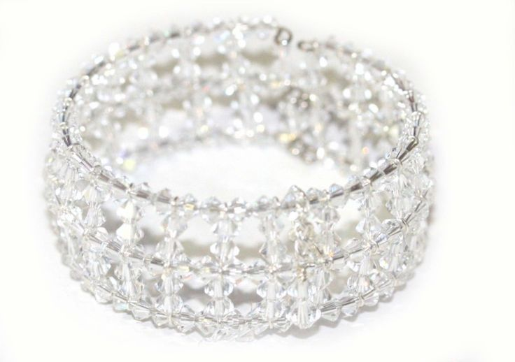 Elegance Crystal Cuff Bracelet - Redki - Jewellery, Jewelry. Handmade Bridal & Fashion Jewellery, Hair Accessories - Adorn yourself in glamourous style with this stunning cuff bracelet.