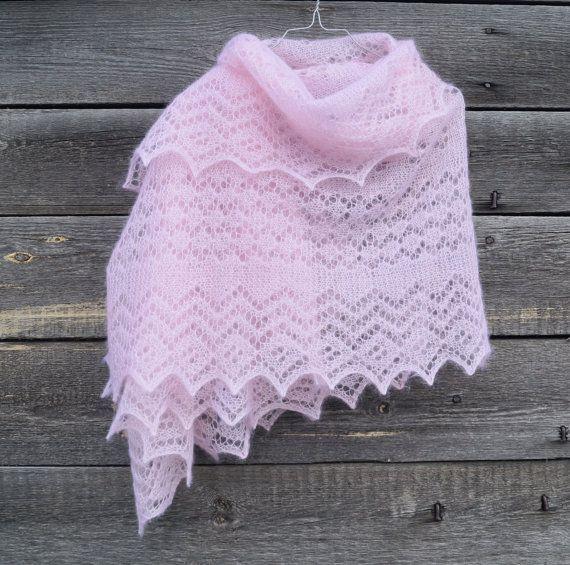 Shawl pattern Orenburg Style Wrap Lace Hand by NataPtashkaShop