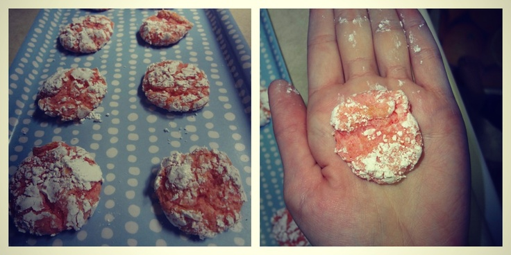 Cookies Made With Strawberry Cake Mix And Cool Whip