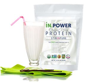 IN.POWER Organic Whey Protein: Stir in Pure! | Products We