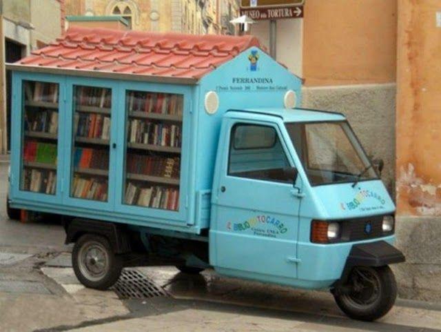 biblioteca móvel na Itália