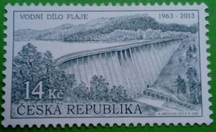 "Stamp 2013 ""Technical Monuments: The Fláje Dam"", Czech Republic"