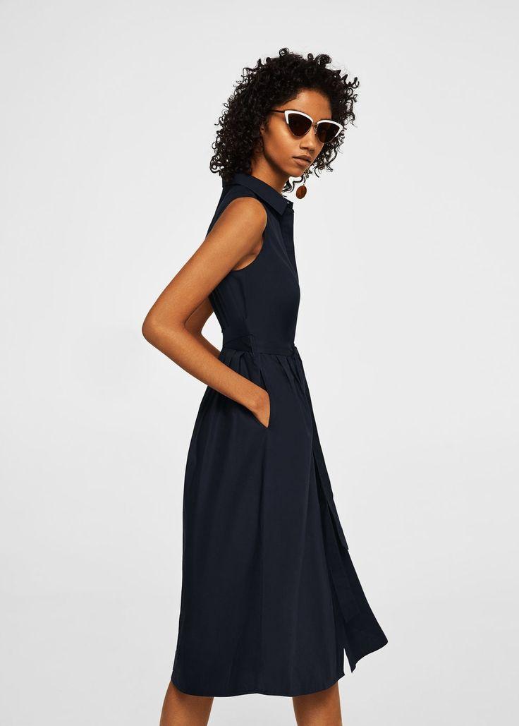 Belt shirt dress -  Women | MANGO USA